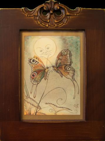 CVS Framed Art Card Butterflies Moon Affairs of the Heart