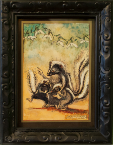 CVS Framed Art Card Fresh Start Skunks SNFS Symphony of Nature