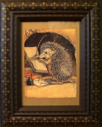 CVS Framed Art Card Hedgehog AFHH Affairs of the Heart