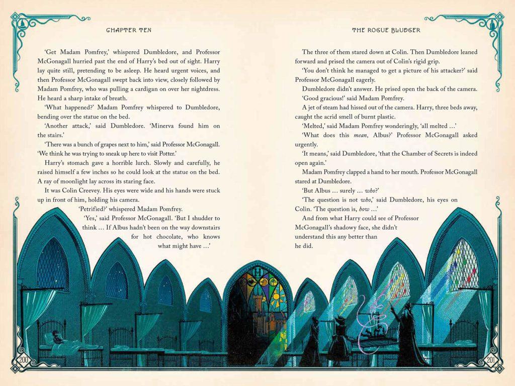 MinaLima Harry Potter Chamber Secrets int sleeping