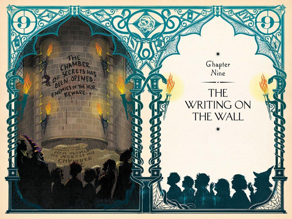 MinaLima Harry Potter Chamber Secrets int wall writing